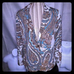 Chicos new line trendy light weight multi blazer